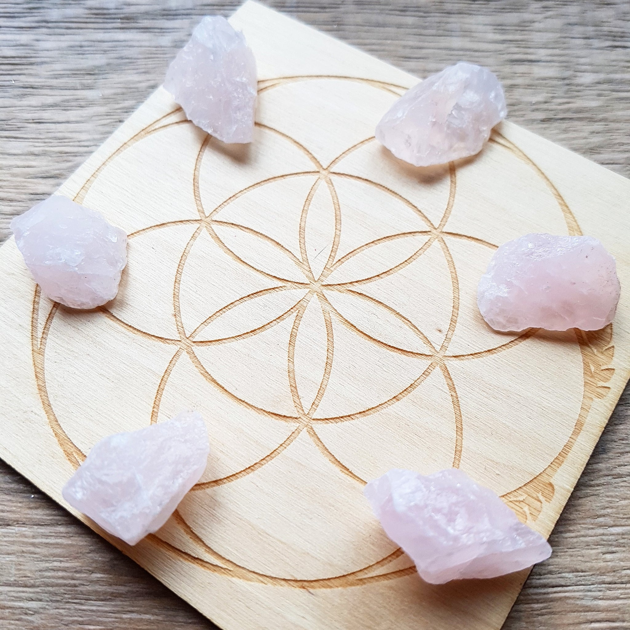 Rose Quartz - Raw - 6 pack