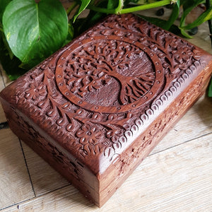 Tree of Life Altar Box - Wood