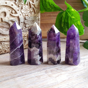 Chevron Amethyst Points - Polished - Small