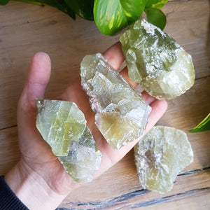 Green Calcite - Large, Raw