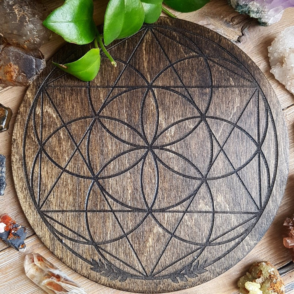 Circular Seed of Life with Hexagram Crystal Grid