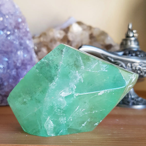Fluorite, Green - Freeform - Polished - (Namibia)