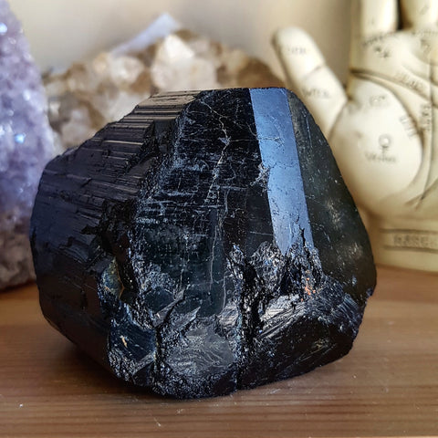 Black Tourmaline Crystal - Raw- XL (Madagascar)