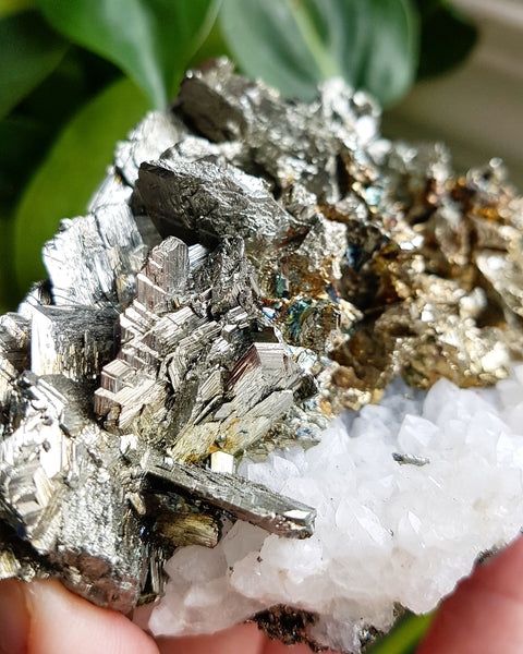 Marcasite on Quartz (Morocco)