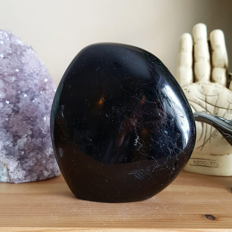 Black Tourmaline Standing Stone - Polished - XL (Madagascar)