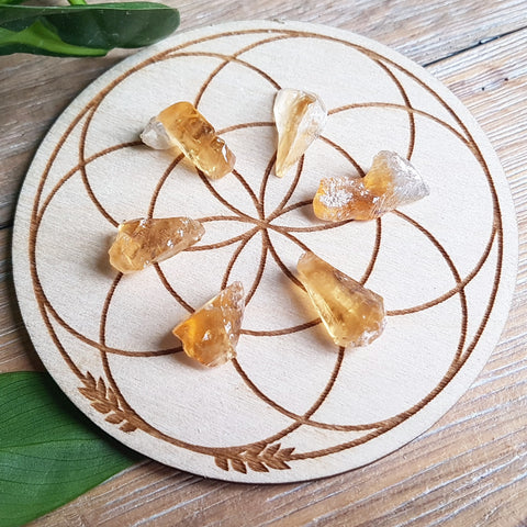 Honey Calcite - Raw - 6 pack