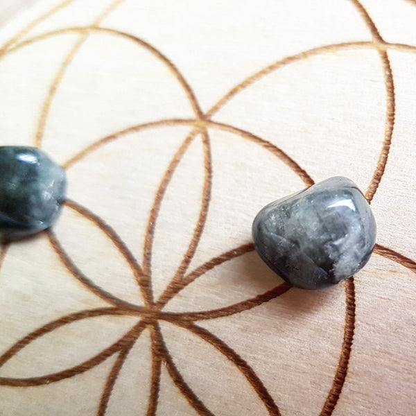 Blue Silver Beryl - Tumbled - 3 pack