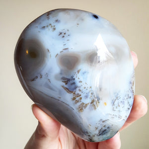 Dendritic Agate Palmstone - Light - Polished - XL