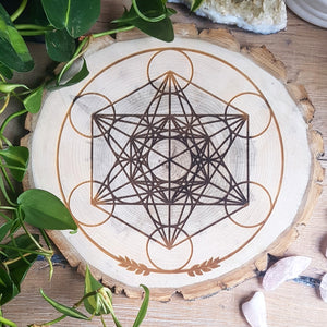 Wildcrafted Poplar Grid - Metatron's Cube