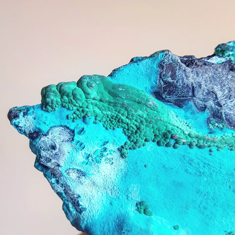 Malachite on Chrysocolla - South Africa