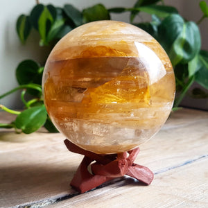 Golden Healer Quartz Sphere