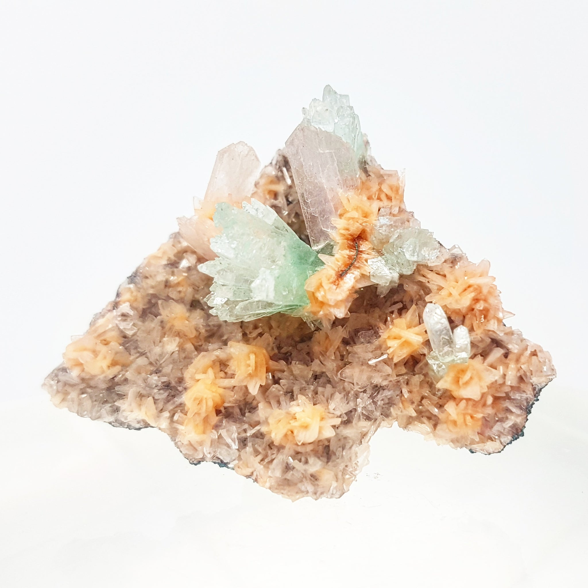 Green Apophyllite, Stilbite & Heulandite #2- India