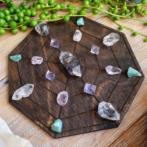 **Limited Edition** Spider Web Crystal Grid