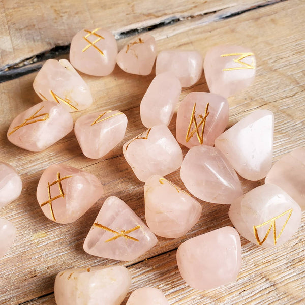 Rune Stone Set - Rose Quartz