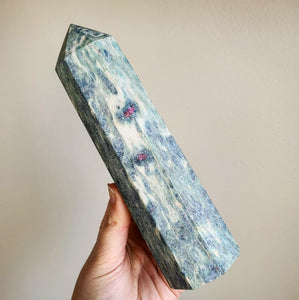 Ruby in Kyanite & Fuchsite Tower - XL (India)