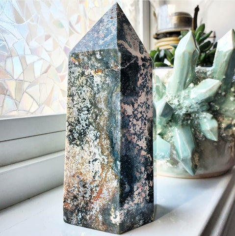 Moss Agate Tower - XXL - #3