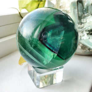 Fluorite Sphere #2 (Polished) - China