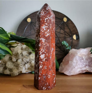 Red Moss Agate Tower #2 (Polished) - Indonesia
