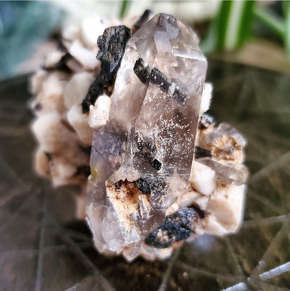 Aegerine, Smoky Quartz & Microcline - Raw - Namibia