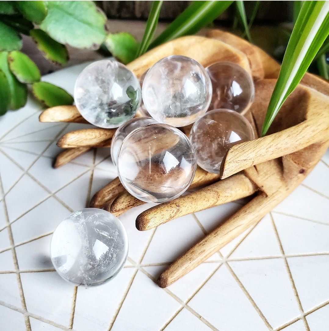 Clear Quartz Spheres (s)