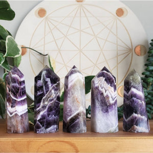 Chevron Amethyst Points