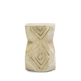 Volio Carved Stool