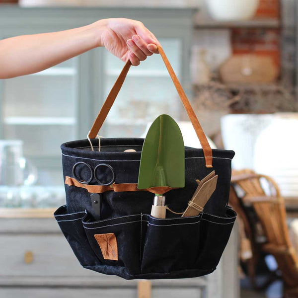 Round Denim Garden Tool Bag