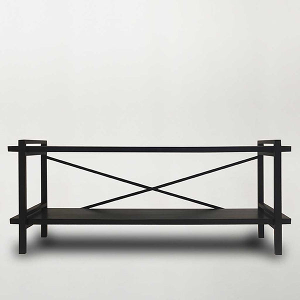 Low Loft Shelving Unit - Blackwash