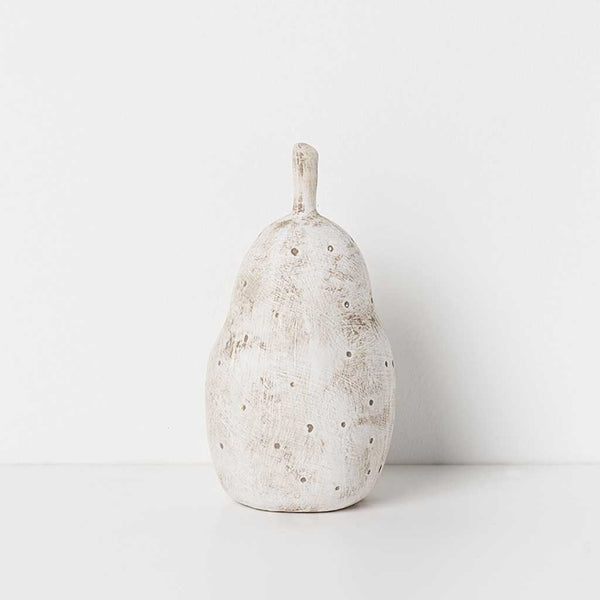 Ceramic Anjou Pear - Taupe Dots