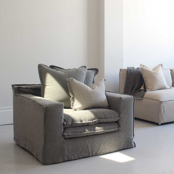 St. Tropez Single Seater - Charcoal