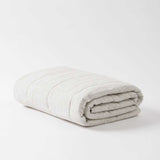 Pinstripe Linen Quilted Blanket