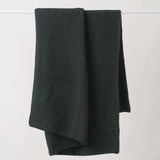 Purl Knit Wool Throw - Nori
