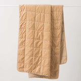 Washed Velvet Quilted Throw - Crumb