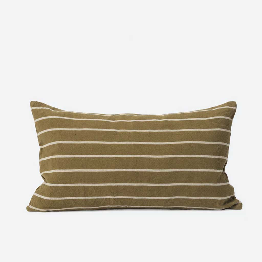 Paloma Cushion Cover - Pickle/Natural