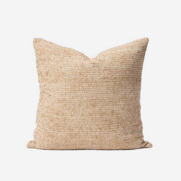 Freida Silk Blend Cushion Cover - Tea/Natural