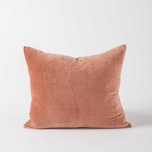 Cotton Velvet Cushion Cover - Nude