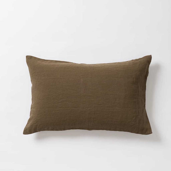 Sove Linen Pillowcase PR - Seaweed