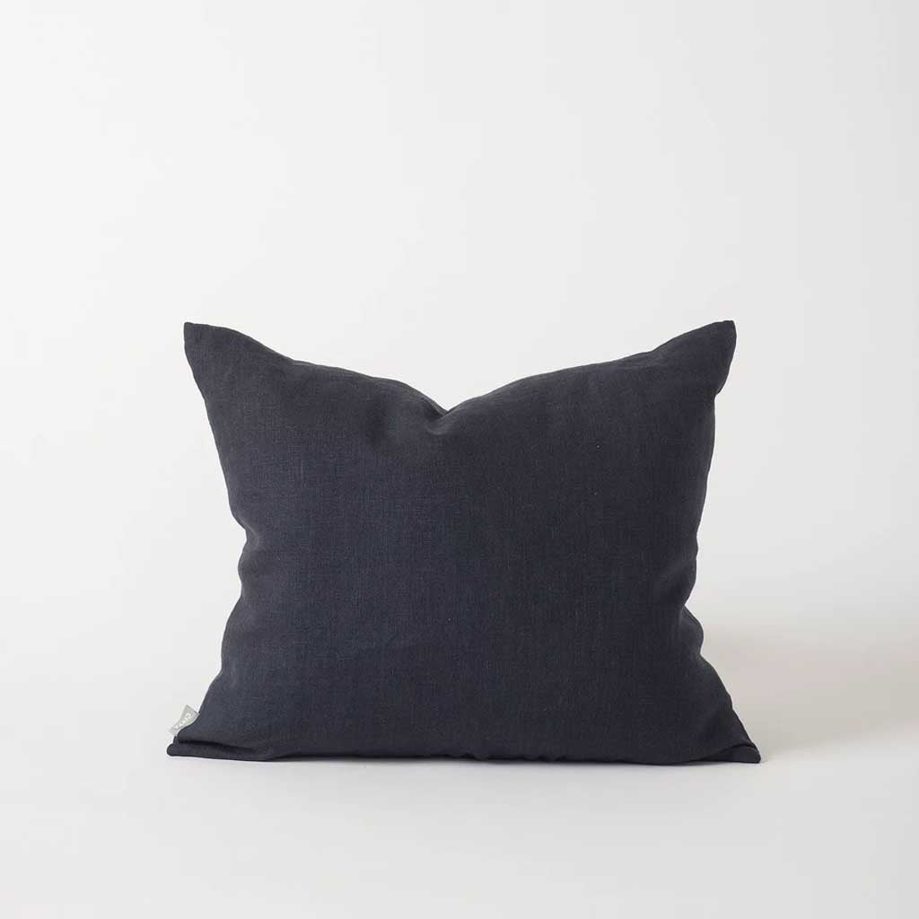Hand Woven Linen Cushion Cover - Navy