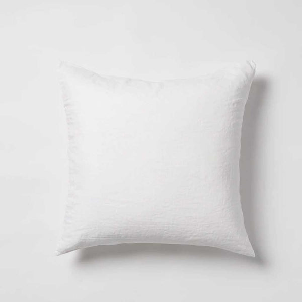 Sove Stripe Linen Euro Pillowcase - White