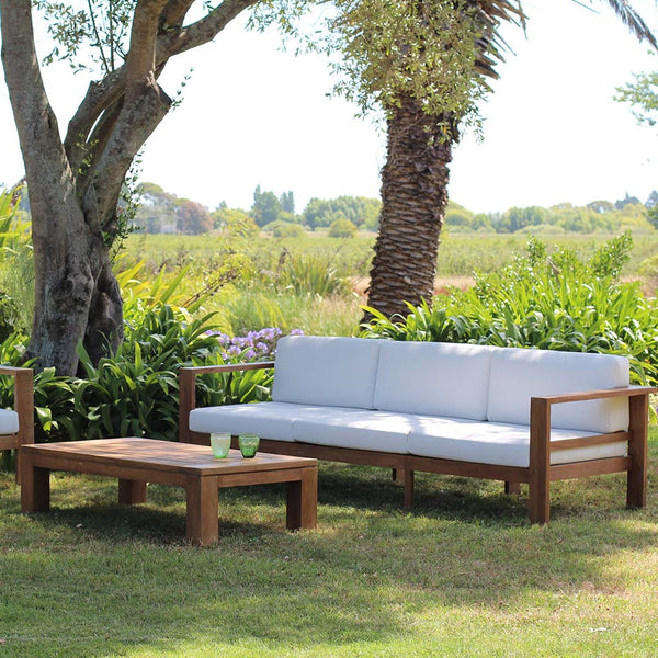 Cayman Teak 3-Seater Sofa