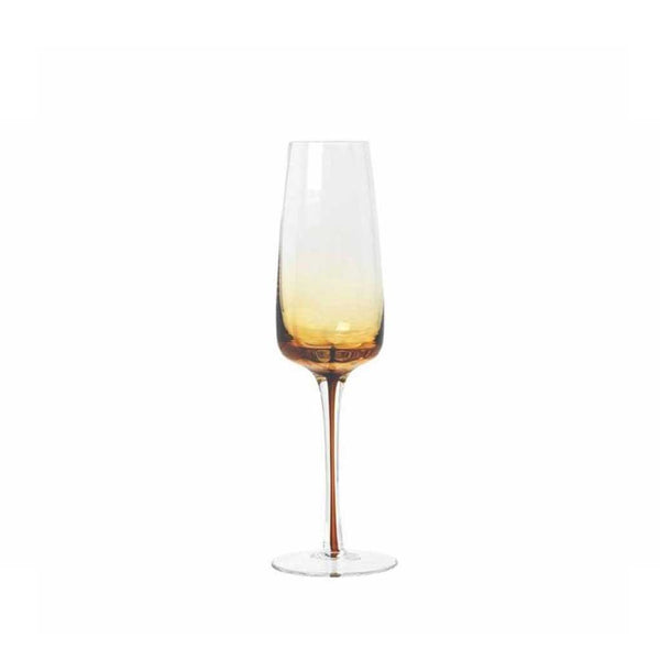 Champagne Glass - Amber