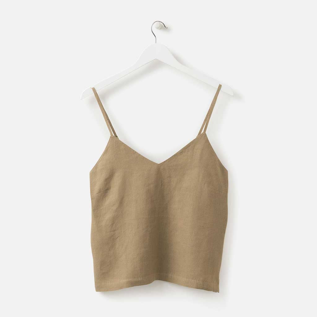 Sunday Linen Camisole - Pickle