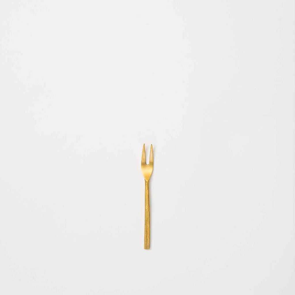 Hand Forged Pickle Fork - Brass