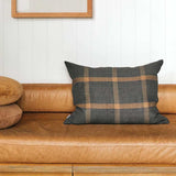Grid Woven Linen Cushion Cover - Multi