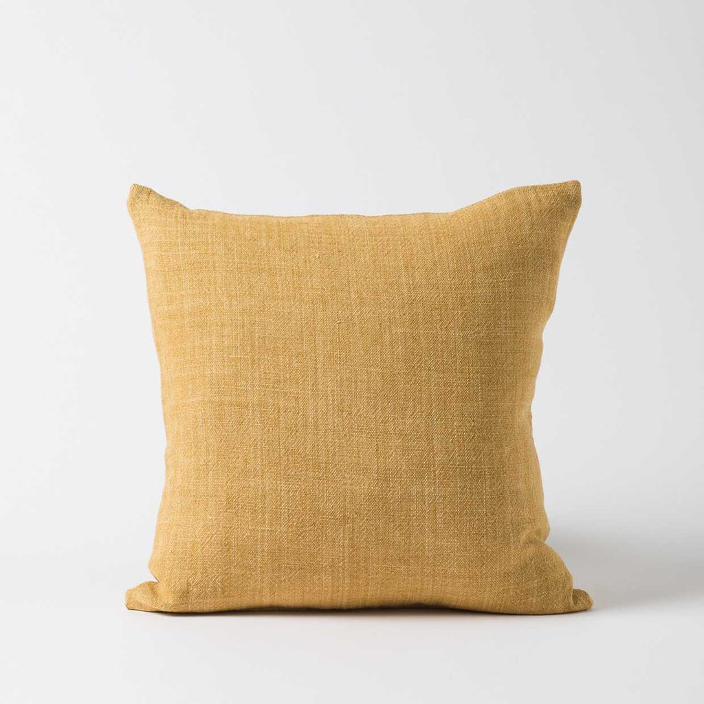 Heavy Linen Cushion Cover - Citron