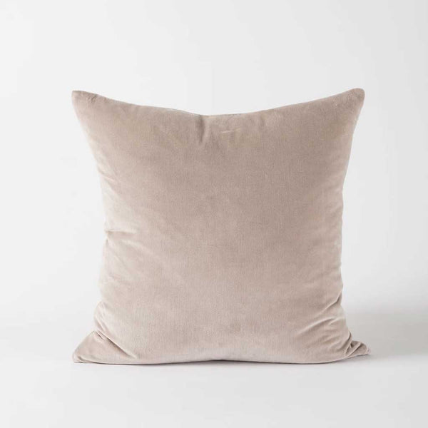 Cotton Velvet Cushion Cover - Scoria Tint