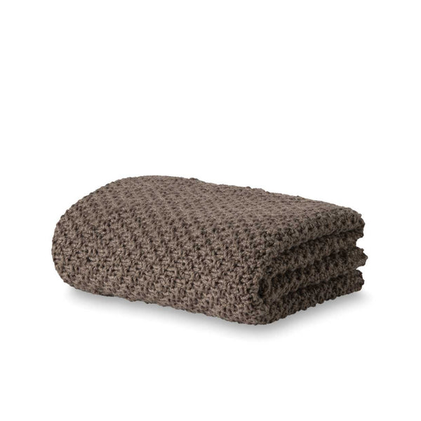 Moss Stitch Wool Throw