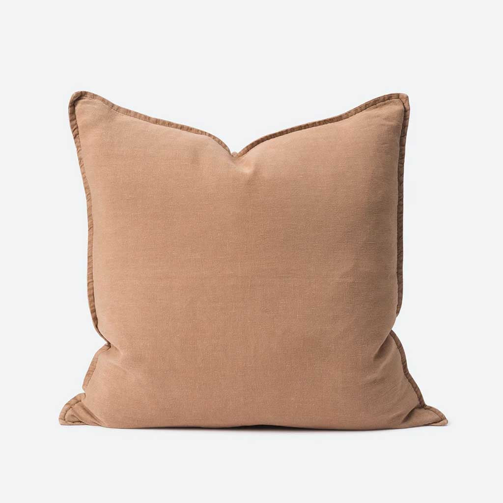 Washed Linen Cushion Cover - Oat