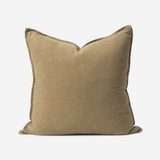 Washed Linen Cushion Cover - Matcha