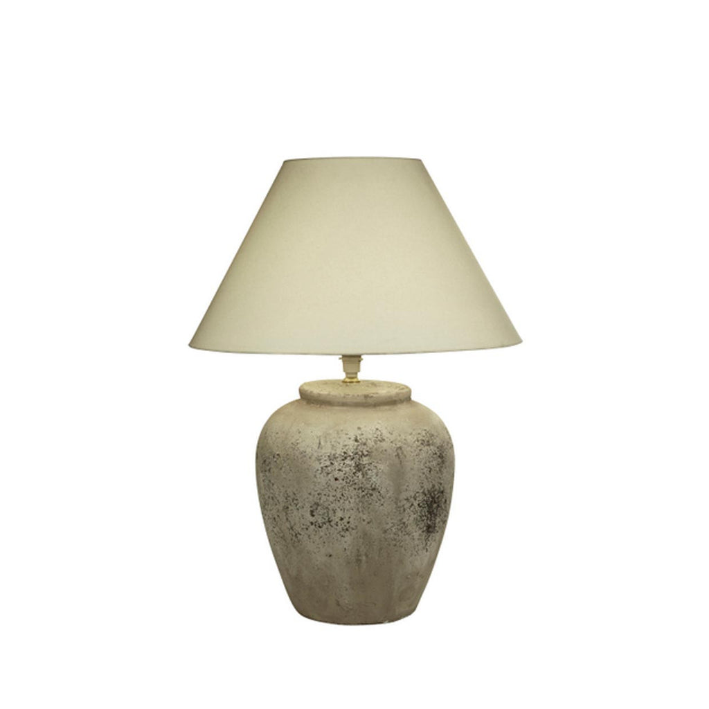 Rustic Round Stone Lamp Base